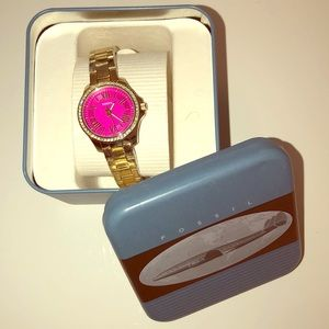 Fossil Gold and Pink watch 💝 New